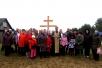 В деревне Лубня состоялась установка и освящение поклонного Креста