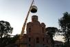 В Турове состоялось поднятие куполов и крестов на строящийся кафедральный собор