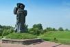 Памятник Кириллу Туровскому в древнем Турове